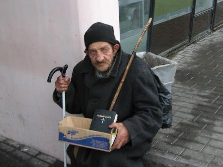 Beggars and beggars. Grodno. The central market. Belarus