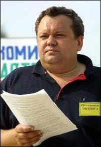Валерий Левоневский, лидер стачкома предпринимателей