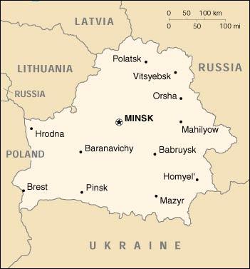 Lokalizacja: Europa Wschodnia, na wschód od Polski Współrzędne geograficzne: 53 00 N, 28 00 E